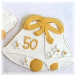 50th Anniversary Bell Favor Cookies