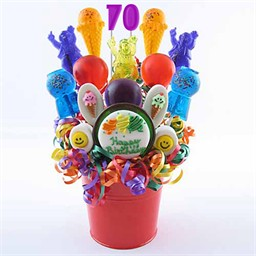 70th Birthday Centerpieces - Lollipop Decorations