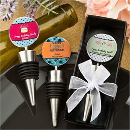 Birthday Party Favor Ideas, Custom Bottle Stoppers