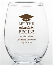 Graduation Party Favors 2013 Trinket Glass