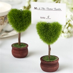 Heart Topiary Placecard Holder