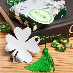 Lucky Wedding Favors Irish Clover Bookmarks