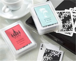 Cheap Personalized Playing Card Favors - Wedding